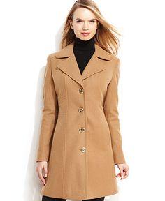 Camel Wool Coat - Coat Nj