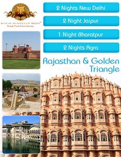 North India golden triangle rajasthan tour operator offers India most eminent golden triangle tour packages with Rajasthan tour. Enjoy Delhi, Agra and Jaipur tourist attractions and sightseeing tours with this trip.