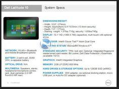 Dell Latitude 10 | Review Specs Price Dell Latitude 10