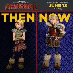 How to Train Your Dragon Astrid at 15 and 20.