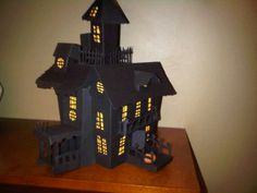 3D Haunted House Haunted Houses, House and Handmade