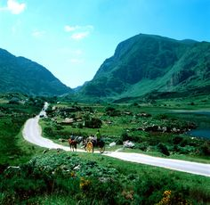 A beautiful old shot of the Gap of Dunloe in Kerry, Ireland.