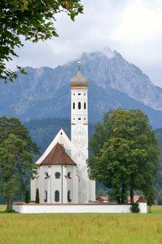 St. Coloman Church: Schwangau, Germany  #travel #wanderlust #church #germany #rebekaheliztravels
