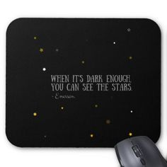 You can see the stars Emerson quote Mouse Pad