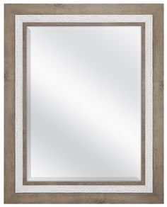 MCS 83043 18x24' Beveled Wall Mirror Rustic Wood and Embossed Whitewash Finish >>> Continue to the product at the image link. (This is an affiliate link) #Mirrors