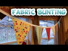 DIY Fabric Bunting {Free Pattern} - Whitney Sews - YouTube  - This one is a favorite (Kim)