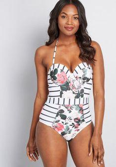 72bd81032160e Bathing Suits - Women's Swimwear. One Piece Swimsuit WhiteBlack ...