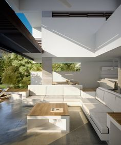Sun filled terrace lounge, VILLA MHF, Villetta, Colombia, designed by Santiago Murcia