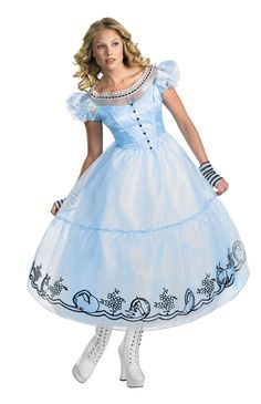Deluxe Alice Adult Costume - Alice in Wonderland Costumes