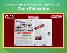 A leading Tamil magazine, #Kumudam has interviewed us on #women's empowerment towards the career and scope in the web designing field.   Know more about the interview @ http://www.zuaneducation.com/blog/kumudam-snegithi-magazine-interview-with-zuan-education/  #webdesigning #webdesign #interview #kumudamsnegithi #workfromhome #jobsforwomen