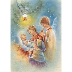 Image Library Designs Original illustrations occasions Christmas greetings cards Paper Illustration, Illustrations, Christmas Scenes, Christmas Nativity, Christmas Greeting Cards, Christmas Greetings, Happy Birthday Card Design, Library Design, Holy Night