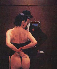 Jack Vettriano Scarlet Ribbons Lovely Ribbons oil painting for sale