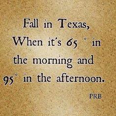 Fall in TX