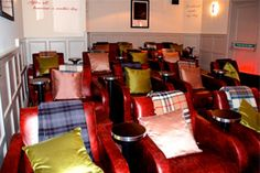 Hort's pub in Bristol has a 26 seat cinema. Now how unusual is that!