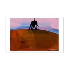 African sunset Wall Sticker on CafePress.com