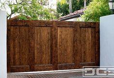 Custom Designed Spanish Garage Door & Matching Automatic Driveway Gate | Dynamic Garage Door Projects