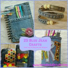 25 Blue Jean Crafts - Mom's Madhouse