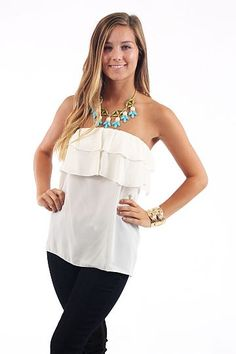 Over The Top Tube, white $36 www.themintjulepboutique.com