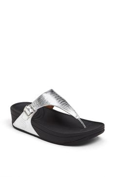Fit flops are so comfy and this style isn't too bad looking...FitFlop 'The Skinny™' Sandal available at #Nordstrom