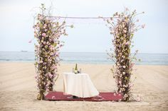 Cherry Blossom Chuppah Huppah {Sands Atlantic Beach NY, Ron Soliman Photojournalism} - mazelmoments.com