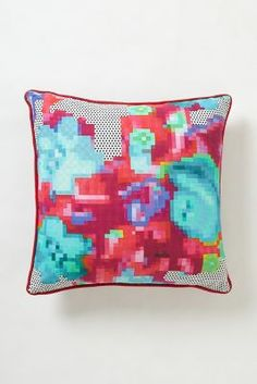 Netted Floral Cushion @
