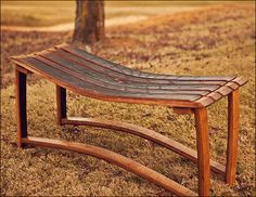 Cabernet Wine Barrel Bench.  The perfect functional accent piece for your home.  (Heritage Handcrafted)