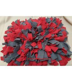 Schnüffelteppich rot/grau