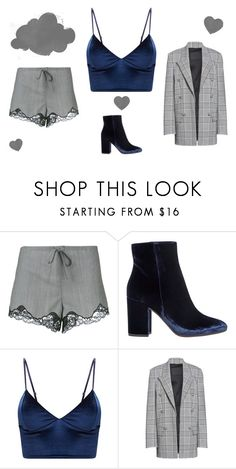 """grey"" by alma-mesic on Polyvore featuring Alexander Wang and Gianvito Rossi"