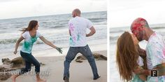 Passionate Engagement Beach Photographer | © Favorite Photography