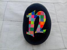 Peint Stone Alphabet Letters-Monogrammed peint Pierre, Alphabet caillou Art, Paperweight initial-jardin décoration-