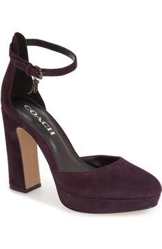 d25e1587c79 COACH  Chrystie  Ankle Strap Pump (Women) available at  Nordstrom Ankle  Strap