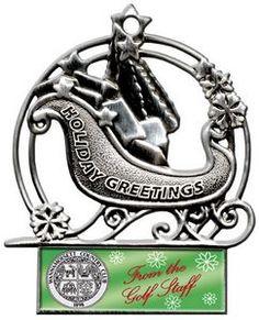 Stock Sleigh Christmas Ornament
