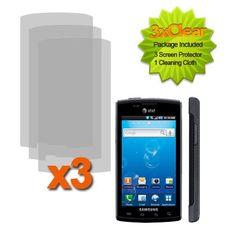 Fincibo (TM) Three Pack Custom-Fit Screen Guard Protector For Samsung Captivate i897 $0.05