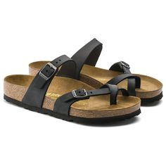 f04779638920 Mayari Oiled Leather Black Birkenstock Mayari