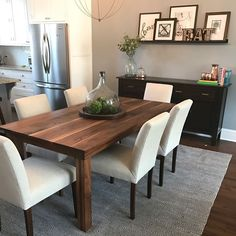 """We teamed up with so you can buy your Harp Design Co. table now and pay later! Just select """"Affirm"""" at checkout. Long Dining Room Tables, Modern Kitchen Tables, Dining Room Table Chairs, Kitchen Dining, Kitchen Decor, Dinning Table Design, Living Room Decor, Home Decor, Harp"""