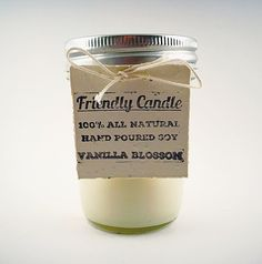 These soy candles are hand poured. The best part about them is that you can plant the tag and a wildflower will grow!