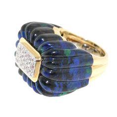 tony duquette jewelry | Vintage David Webb Labradorite and Diamond ring. One word: Phe-nom-i ...