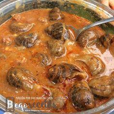 Caracoles en salsa picante (o no) - Olla GM Salsa Picante, Mexican Food Recipes, Ethnic Recipes, American Food, Spanish Food, Barbacoa, Canapes, Kitchen Art, Pot Roast