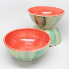 Set of Three Handmade Stoneware Bowls by MountainMudBabies on Etsy, $45.00