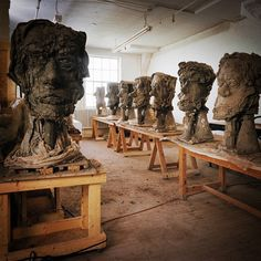 Thinking about the work of my friend, Jean-Pierre Larocque. #hero #head #clay #spirit