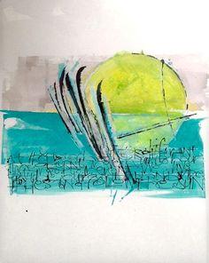 Modern calligraphic piece by Kirsten Burke