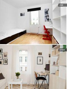 Kontor før og etter
