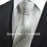 free shipping 2pcs hot sale Ash Grey Gradient Swirl Paisley Pattern JACQUARD WOVEN Microfiber Men's Tie Necktie,Width 8.5cm