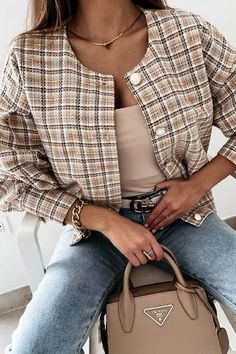 Blazers For Women, Cardigans For Women, Ripped Shorts, Denim Romper, Plaid Jacket, Flare Pants, Sleeve Styles, Coat, Casual