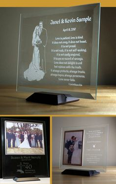 crystal photo frames
