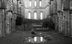 "Tarkovsky - ""Nostalgia"" (film still) Film Images, Film Inspiration, Fade To Black, Film Stills, Photos, Pictures, Filmmaking, I Movie, Nostalgia"