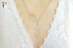 Leaf Lariat Necklace - Wedding nacklaces (*Amazon Partner-Link)