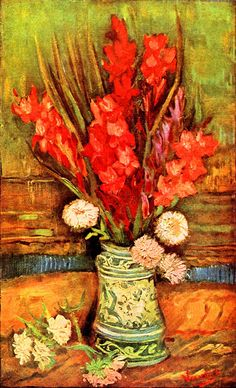 Vincent van Gogh Still life with red gladiolas   1886