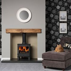 ACR Malvern II Multi fuel Stove (free voucher code with this stove, please call) Log Burner Living Room, Log Burner Fireplace, Wood Burner, Living Room With Fireplace, Living Room Decor, Fireplace Wall, Cosy Fireplace, Inglenook Fireplace, Leeds