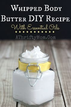 Whipped Body Butter with Essential Oils DIY Recipe #BodyButter